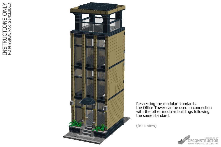 Office Tower - modular (Building instructions)